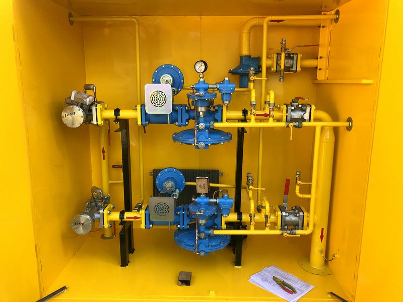 Фото выполненного проекта: Установка газорегуляторная шкафная - № 2