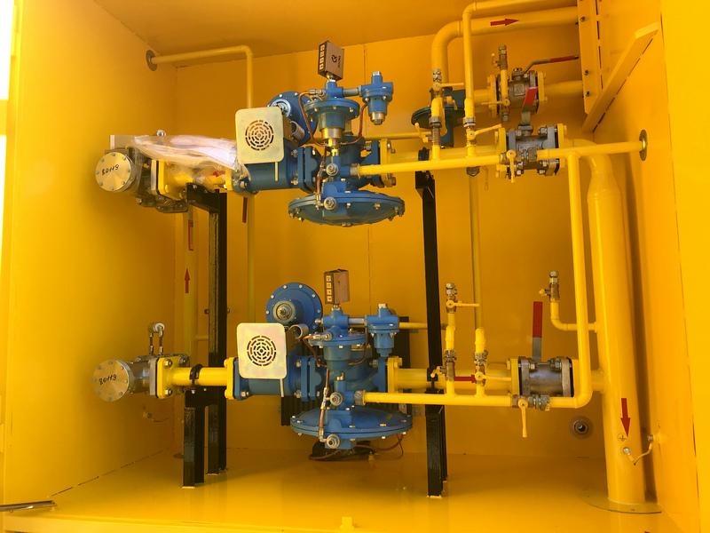 Фото выполненного проекта: Установка газорегуляторная шкафная - № 4