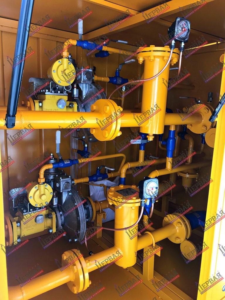 Фото выполненного проекта: Газорегуляторный пункт шкафной с основной и резервной линиями редуцирования - № 1