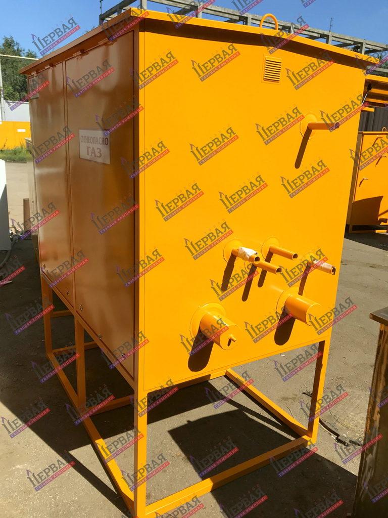 Фото выполненного проекта: Газорегуляторный пункт шкафной с основной и резервной линиями редуцирования - № 2