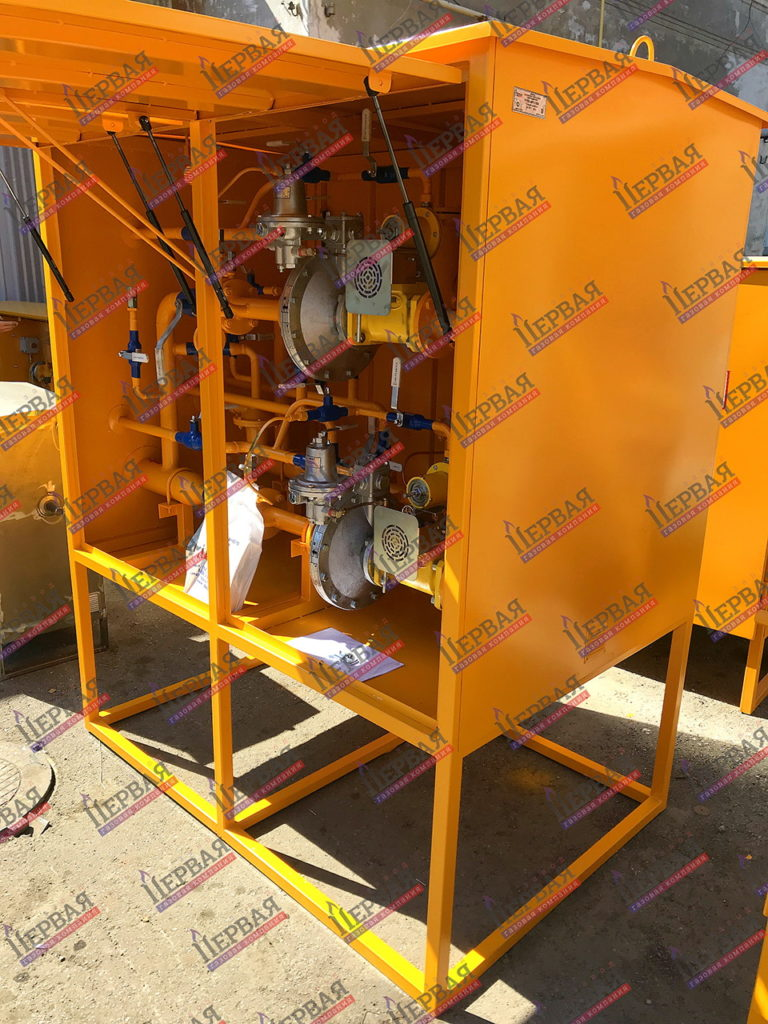 Фото выполненного проекта: Газорегуляторный пункт шкафной с основной и резервной линиями редуцирования - № 3