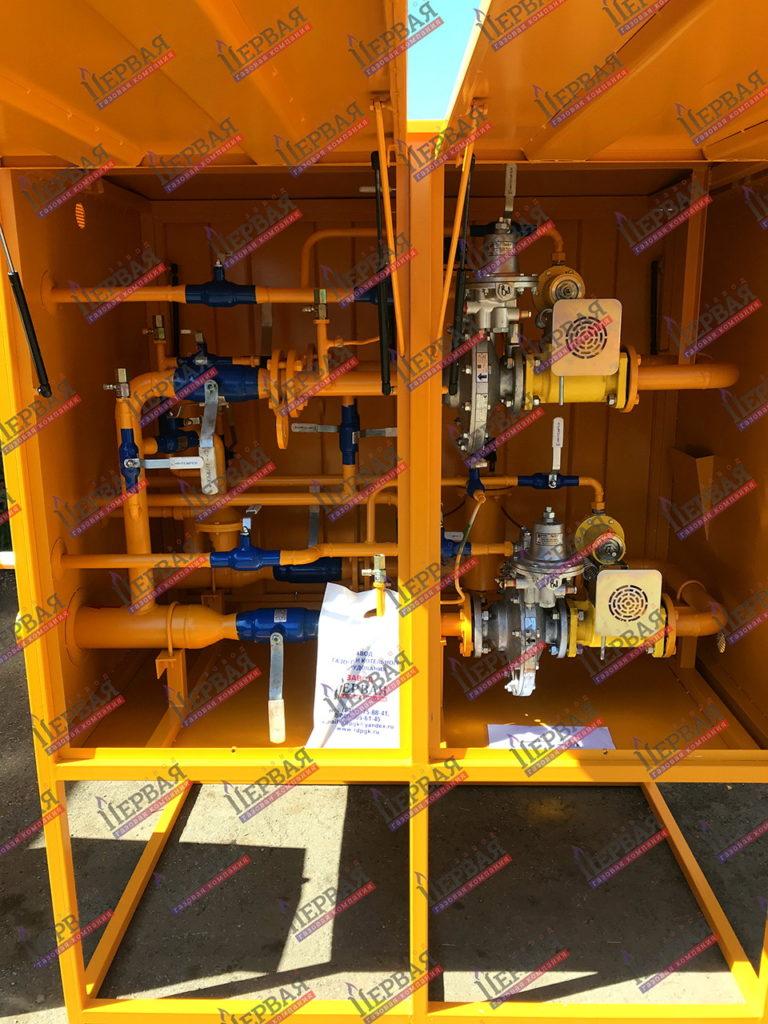 Фото выполненного проекта: Газорегуляторный пункт шкафной с основной и резервной линиями редуцирования - № 4