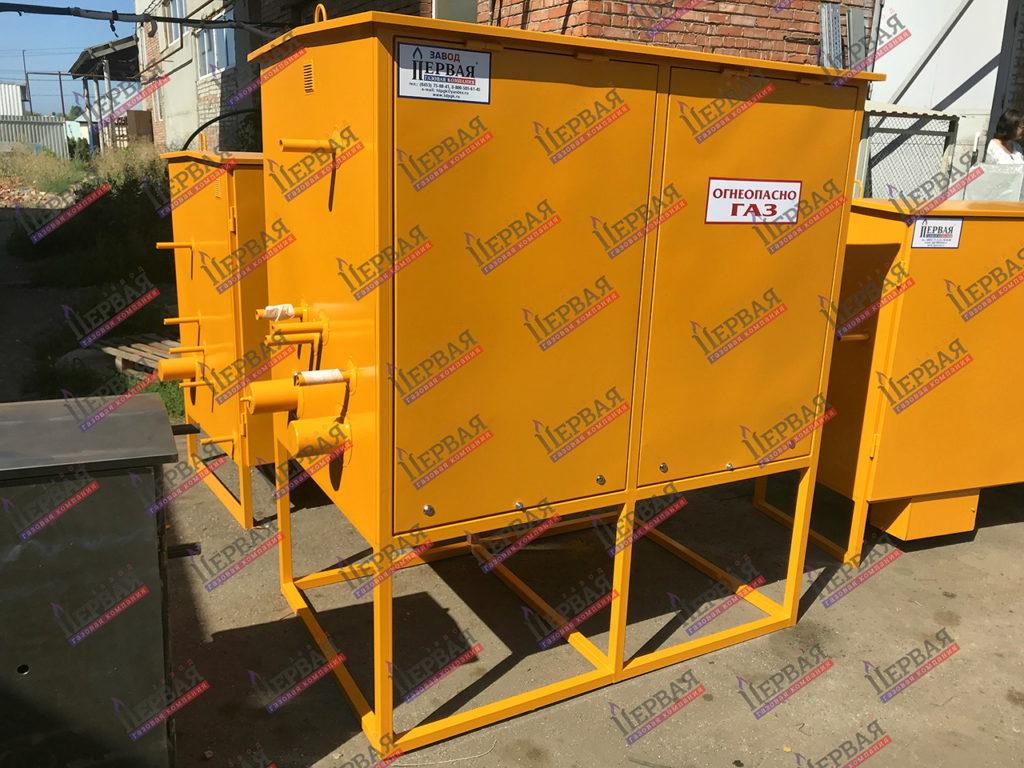 Фото выполненного проекта: Газорегуляторный пункт шкафной с основной и резервной линиями редуцирования - № 5