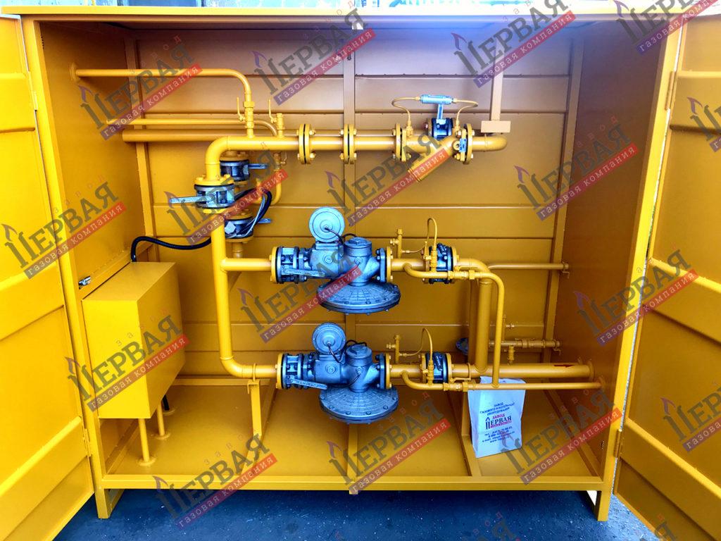 Фото выполненного проекта: ГРПШ с основной и резервной линиями редуцирования на базе двух регуляторов - № 4