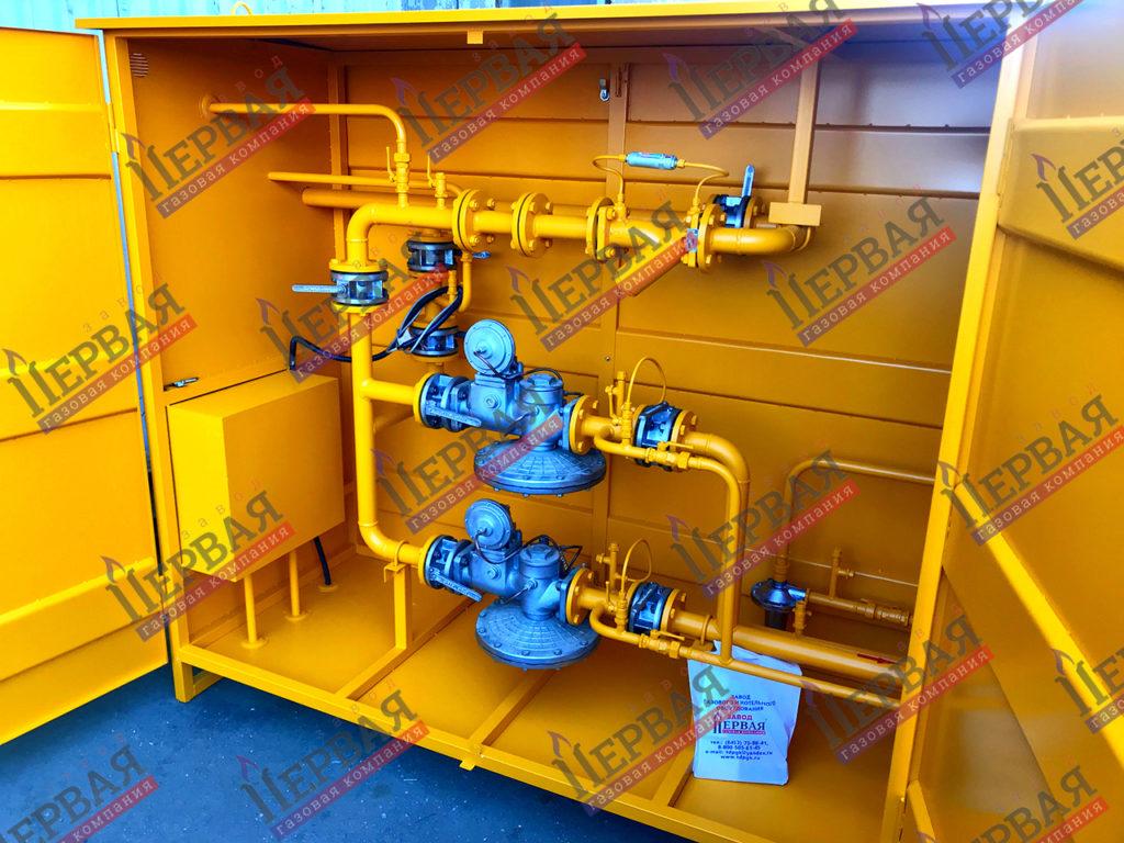 Фото выполненного проекта: ГРПШ с основной и резервной линиями редуцирования на базе двух регуляторов - № 5