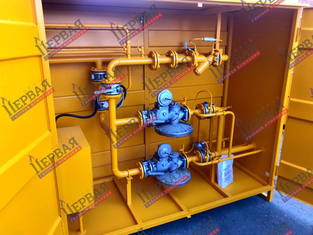 Фото выполненного проекта: ГРПШ с основной и резервной линиями редуцирования на базе двух регуляторов - № 6